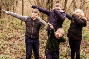 Kids having fun during a Athlone Photography shoot