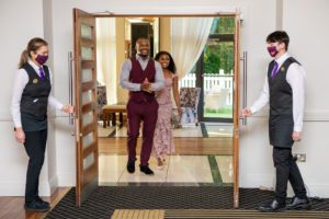 Bride and Groom Grand Entrance Photograph